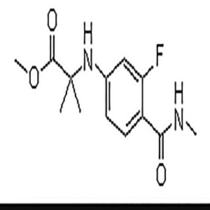 N-[3-Fluoro-4-[(methylamino)carbonyl]phenyl]-2-methylalanine methyl ester  CAS NO.:1332524-01-2