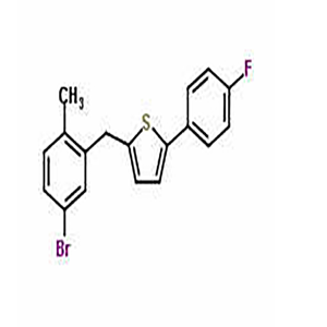 2-((5-bromo-2-methylphenyl)methyl)-5-(4-fluorophenyl)thiophene  CAS NO.:1030825-20-7