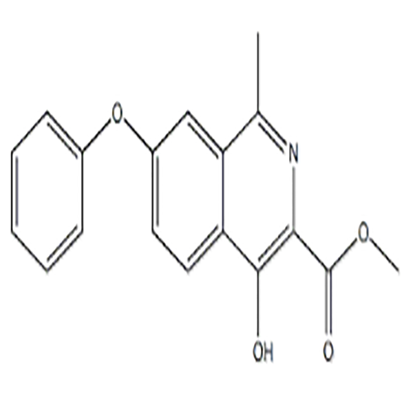 4-Hydroxy-7-phenoxy-3-isoquinolinecarboxylic acid methyl ester  CAS NO.:1455091-10-7 Featured Image