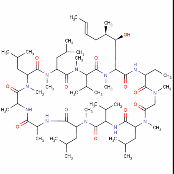 Cyclosporine A   CAS NO.:59865-13-3 Featured Image