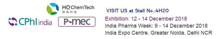 See you at our Stall No. 4H20 in CPHI INDIA